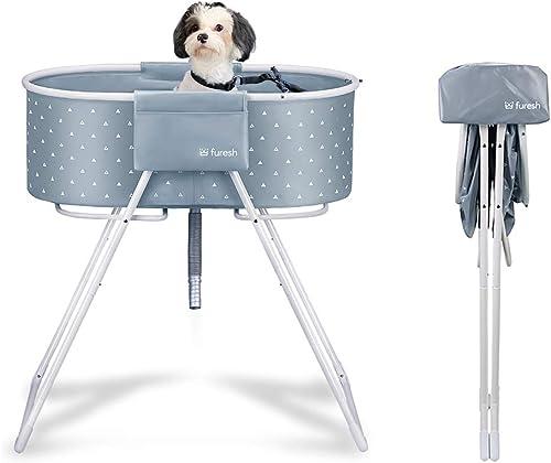 Furesh-Elevated-Folding-Dog-Bath-Tub-and-Wash-Station-for-Bathing