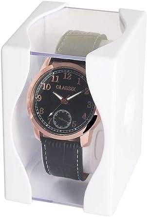 Estuche de plástico para Reloj de Pulsera, Estuche de Regalo: Amazon.es: Relojes