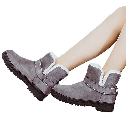 872db602 Yefree Botas de Nieve para Mujer Botines Cortos Invierno cálido tacón bajo  Botines Ankel Mujer niña niña algodón Zapatos: Amazon.es: Zapatos y  complementos
