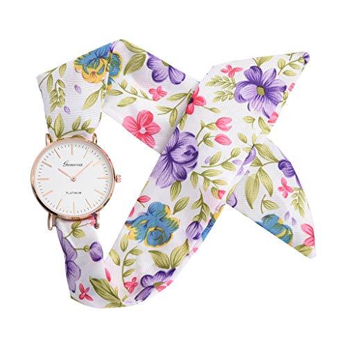 - Women's Weekender 31mm Watch,Londony ✡ Sweet Girl Bracelet Watch Ladies Dress Watch Fashion Flower Cloth Design Watch
