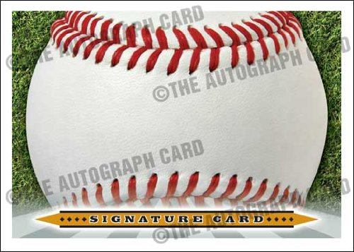 The Blank Autograph Card #SS02 Universal Signature Card Sweet Spot - Any Autograph - Major or Minor Leaguer, Coach, Scout (Perfect for Any Baseball Autograph Hound)(Trading Cards) Autograph Sweet
