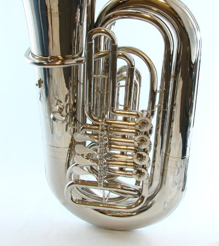 Schiller American Heritage 4-Valve Rotary BBb Tuba - Nickel Plated