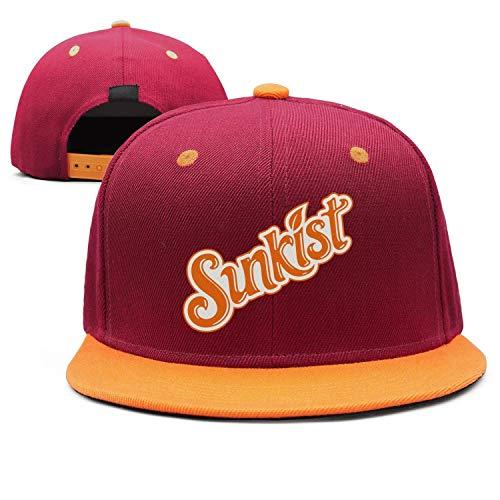 AINIJIAJ Men/Women Print Adjustable Sunkist-Orange-Drink-Logo- Athletic Flat Brim Trucker Cap