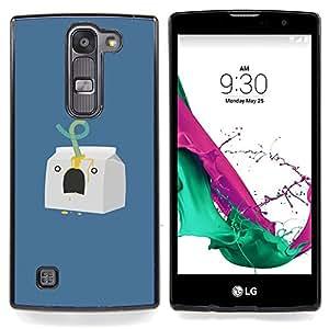 """Carácter Leche Minimalista Azul"""" - Metal de aluminio y de plástico duro Caja del teléfono - Negro - LG Magna / G4C / H525N H522Y H520N H502F H500F (G4 MINI,NOT FOR LG G4)"""