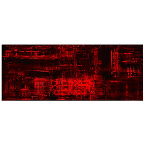 Black & Red Abstract Art 'Aporia Red' Crimson Painting Giclée - Modern Metal Wall Art - Contemporary Artwork - Romantic Urban Decor by Metal Art Studio
