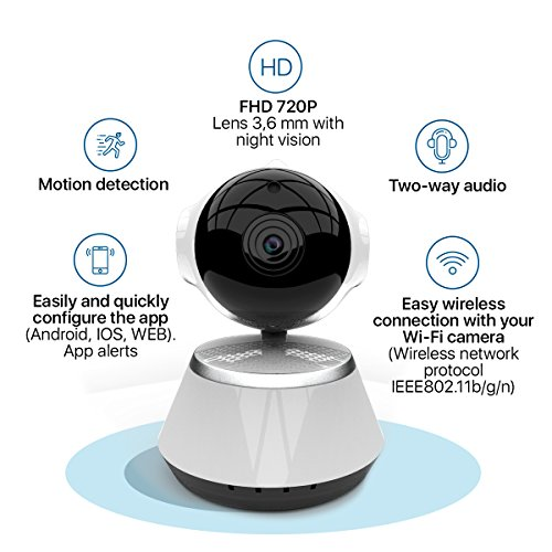 [New 2019 Upgraded] Wireless Security Camera - WiFi Home Surveillance 2.4G IP Remote Cameras for Baby/Pet/Nanny Monitor, Pan/Tilt, Two-Way Audio & Night Vision, 720p HD - Best App for iOS, Android by The Best Industries (Image #2)