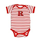 Rutgers Scarlet Knights Striped NCAA College Newborn Infant Baby Creeper (0-3 Months)
