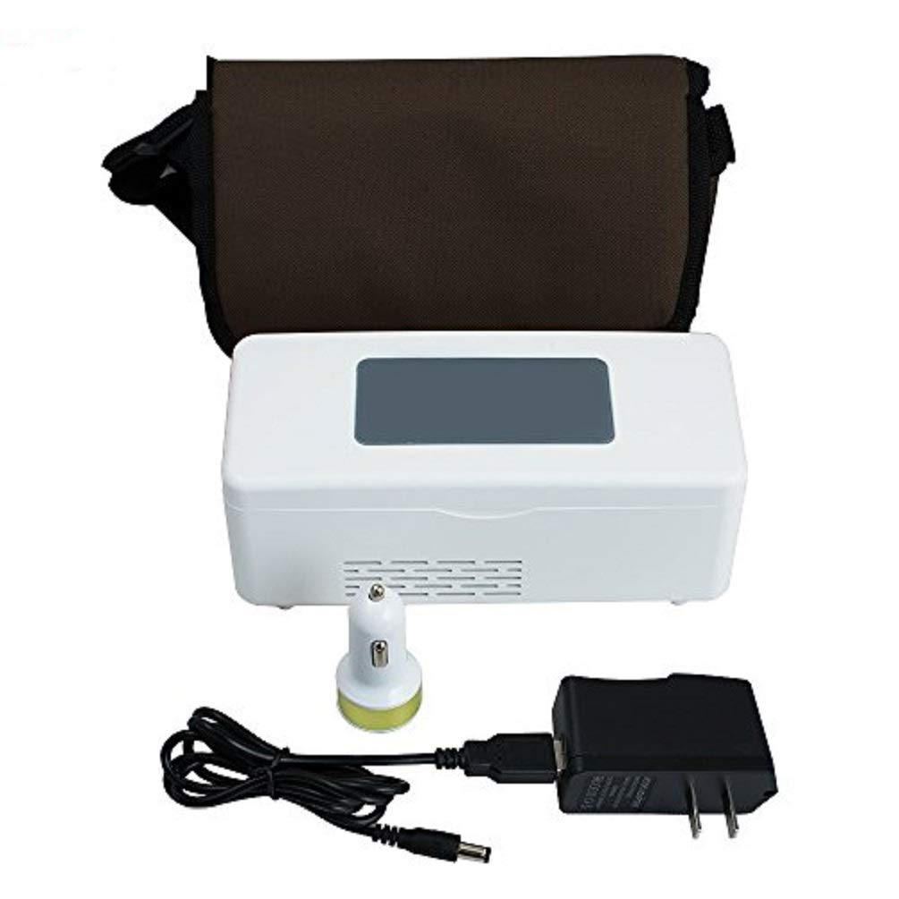 Snow Gear Portable Insulin Cooler Refrigerated Box Insulin Cooler Case Portable Reefer Car Small Refrigerator Mini Cold Boxes Portable Drug Reefer Mini Drug Constant Temperature Refrigerator 2-8℃ Enshey