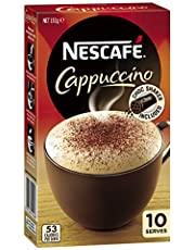 NESCAFÉ Cappuccino Coffee Sachets 10 Pack, Chocolate Shaker Included