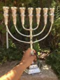 Yaliland Menorah Jerusalem Temple 14 Inch Height 35 cm 7 Branches Silver Plated XL
