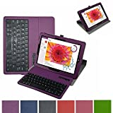 """Microsoft Surface 3 Bluetooth Keyboard Case,Mama Mouth Coustom Design Slim Stand PU Leather Case Cover With Romovable Bluetooth Keyboard For 10.8 """" Microsoft Surface 3 Tablet Windows 8.1 Tablet (Will Not Fit 12.1 Inches Surface Pro 3),Purple"""