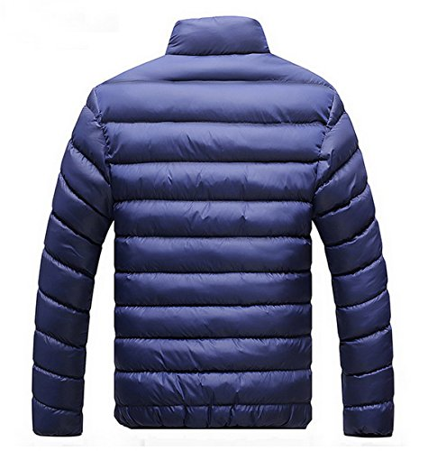 Para Winter Down Oscuro Thicken Jacket 2 Hombre Slim Azul Warm Coat Ahatech Warm Casual qIzUqd