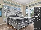Sven & Son Split King Adjustable Bed Base Frame + 14' Luxury Cool Gel Memory Foam Mattress, Head Up Foot Up, USB Ports, Zero Gravity, Interactive Dual Massage, Wireless, Classic (Split King)