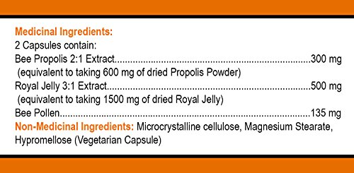 Total Hive Trio 120 caps - Royal Jelly, Propolis and Bee Pollen in 1 capsule by Bee Pollen Buzz (Image #2)