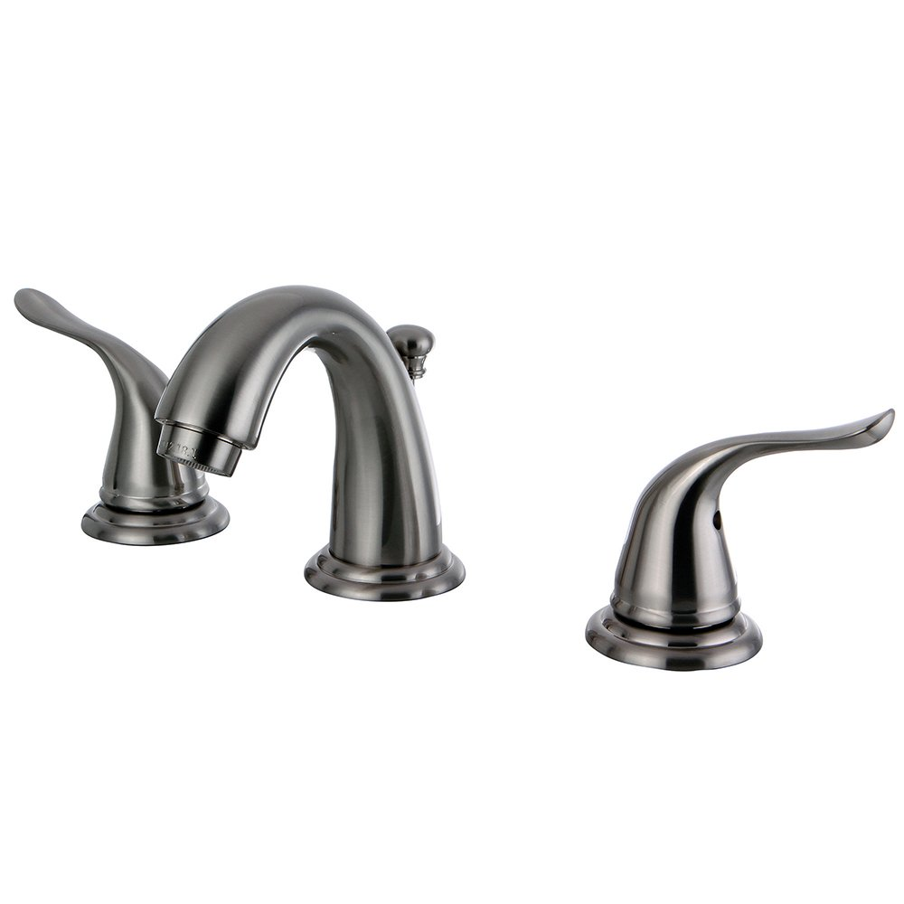 Brushed Nickel Kingston Brass KB2918YL Yosemite Mini Widespread Two Handle Lavatory Faucet 3-3//4 inch in Spout Reach