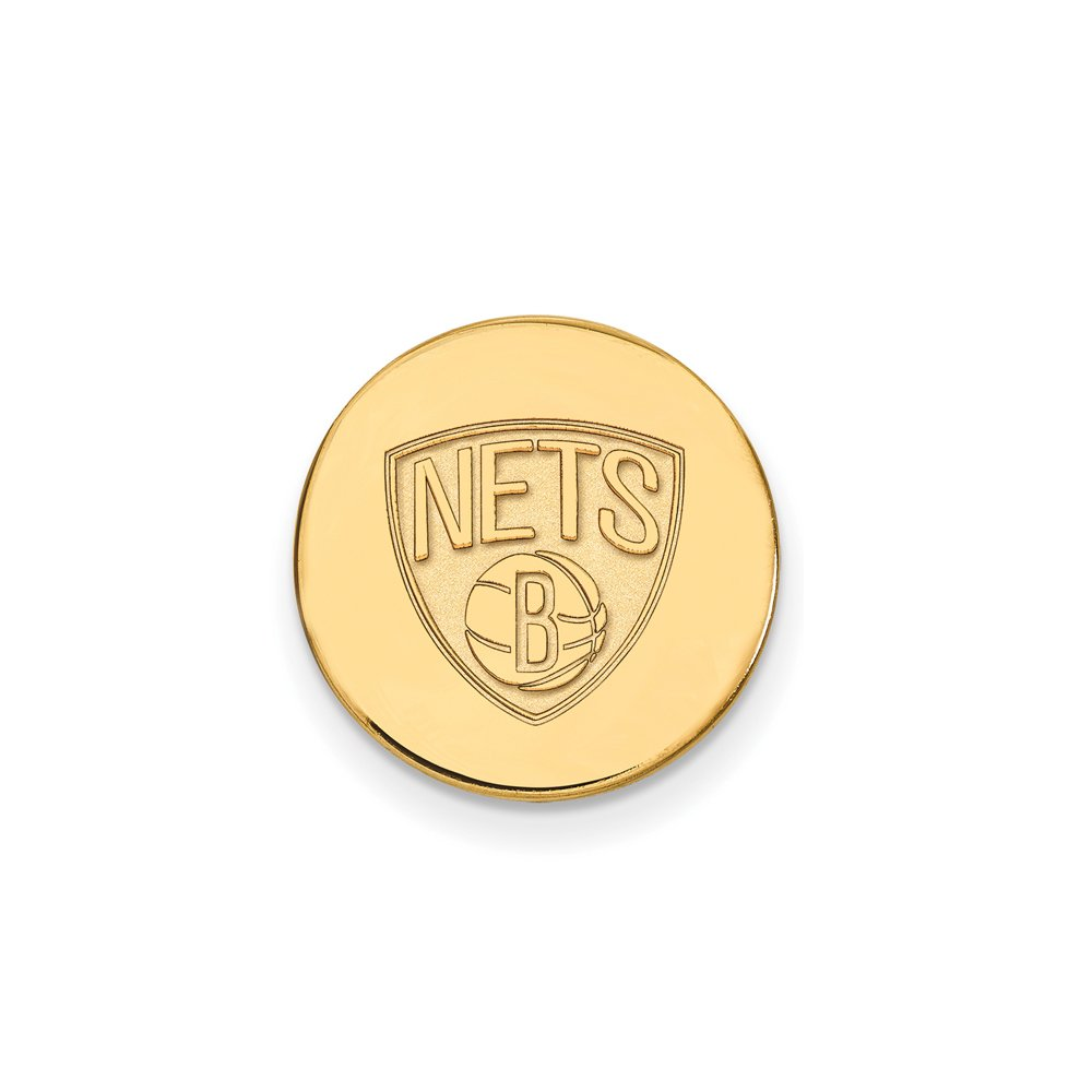 NBA Brooklyn Nets Lapel Pin in 14K Yellow Gold by LogoArt