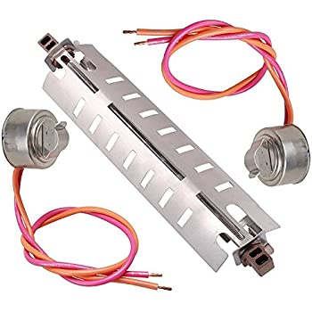 Podoy Defrost Heater Refrigerator Wr51x10055 with WR50X10068 Thermostat Replacement Parts Kit for General Electric Hotpoint