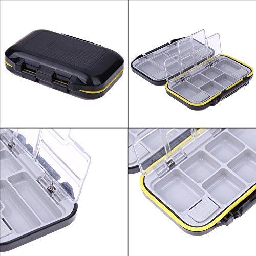 12 Compartments Waterproof Fishing Tackle Storage Box Eco-Friendly Plastic Fishing Lure Bait Tackle Durable Fish Pocket Box