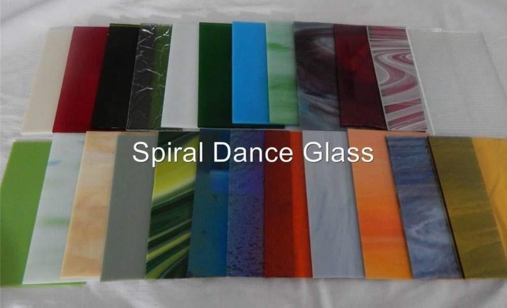 Stained Glass Spectrum Wissmach (20) Spiral Dance Art Glass