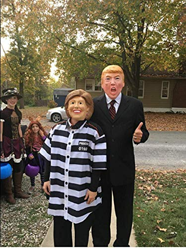 LILLIWEEN Donald Trump Mask,Funny Republican Presidential Candidate Mask for Party,Halloween,July Fourth,Independence Day,Festival Dress]()