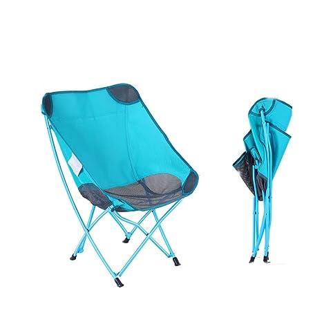 Silla plegable al aire libre Respaldo portátil Camping Playa ...