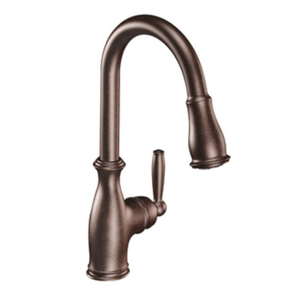 Moen Brantford One-Handle High Arc Pulldown Kitchen Faucet, Oil Rubbed Bronze (7185ORB)