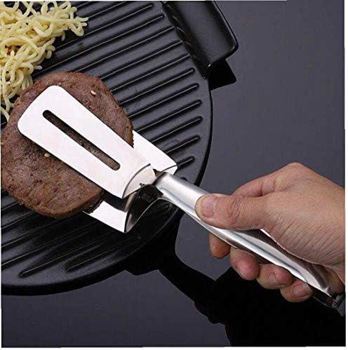 Steak Flip Clip multi-fonction barbecue en acier inoxydable Grill Pince pain clip de cuisson Outil 1 PCS