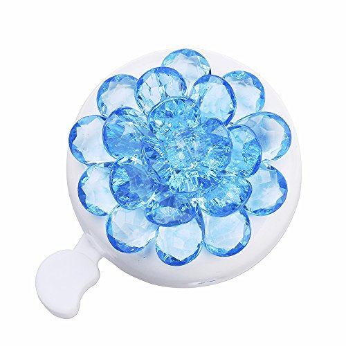 (DRBIKE Kids Bike Bell with Plastic Flower, Handlebar Bicycle Bell for Girls & Boys, Kids Bike Accessories for Child,)