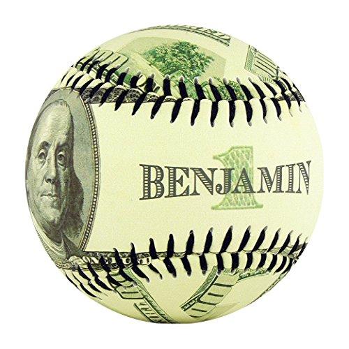 EnjoyLife Inc Ben Franklin $100 Dollar Souvenir Baseball