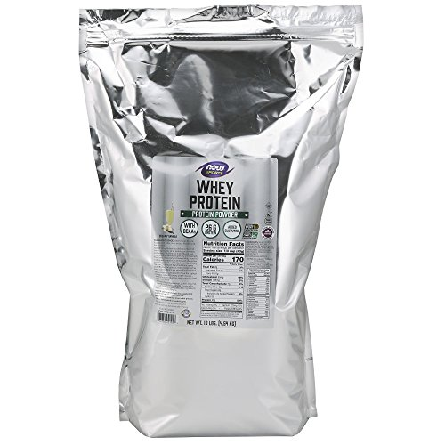 - NOW Sports Whey Protein, Creamy Vanilla, 10-Pounds