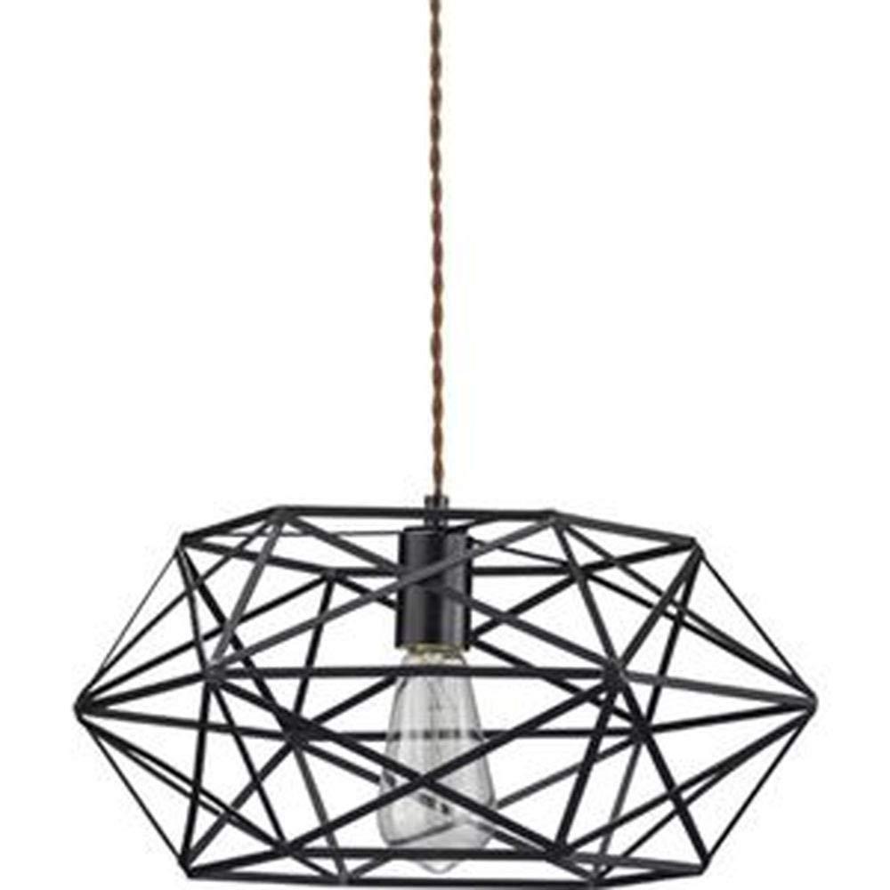 北欧風ペンダントライト/照明器具-1灯型幅40cm-スチール製電球付き-リビングダイニング寝室ベッドルーム- B07T9CM6L1