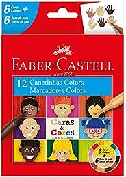 Canetinha, Faber-Castell, Caras & Cores, 15.0112CCZF, 6 Cores + 6 Tons de