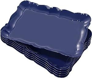 BBG 6 Pack Plastic Serving Trays, Plastic Serving Platter, 15