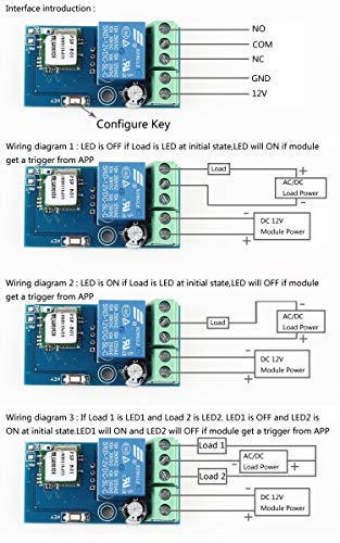 WHDTS WiFi Relay Delay Switch Module Self-Lock Latching Mode