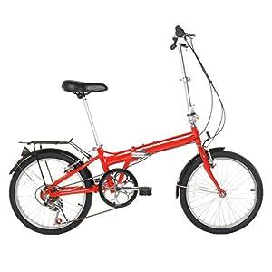 "Vilano 20"" Lightweight Aluminum Folding Bike Foldable Bicycle, Rack and Fenders"