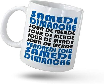 selfiemania-Mug, Tasse Humoristique-Jour de Merde, en céramique-Cadeau Anniversaire-Pause café au Bureau