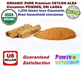1 LB(16oz) CEYLON ALBA GRADE Cinnamon Powder 100% ORGANIC PURE Premium CEYLON ALBA GRADE Cinnamon Powder, SRI LANKA