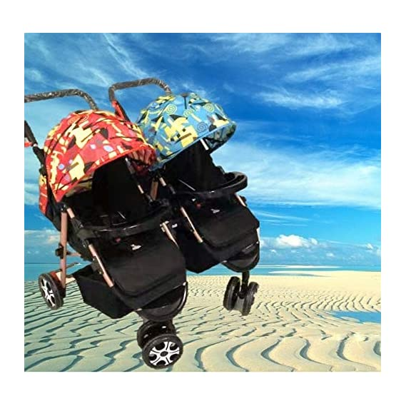 BabyTeddy 4 in 1 Baby Stroller Easy Fold, for Newborn Baby/Kids, 0-4 Years Stroller/Pram (Silver Glamour)
