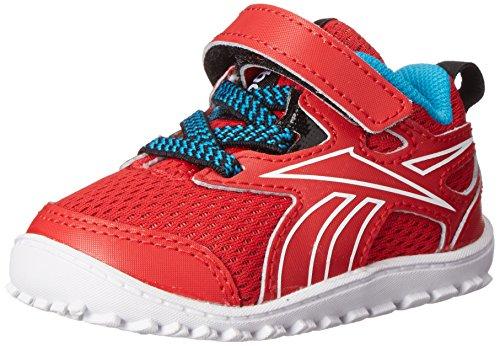 (Reebok Ventureflex Stride III Shoe (Infant/Toddler), Red Rush/Black/Far Out Blue/White, 6.5 M US Toddler)