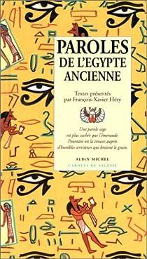 Paroles de l'Egypte ancienne par Héry