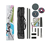 Pro-Fit 50mm Professional Portable Spinning Dance Pole with attachable LED Dance Light and Carry Bag