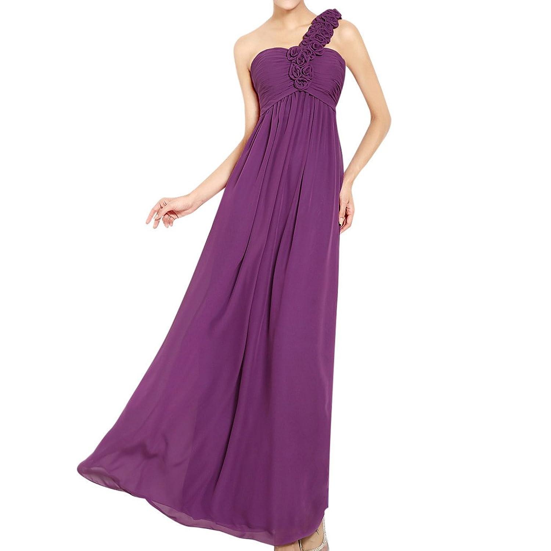 MissFox Damen Abendkleid mit floraler Embellished Einfarbig