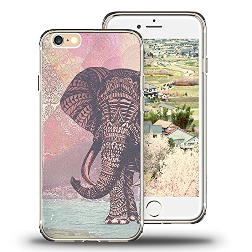 super popular 11e1c 07c91 Case for iPhone 7 Case, for Apple 7 Case Viwell TPU Soft Case Rubber  Silicone The Aztec Color Elephants