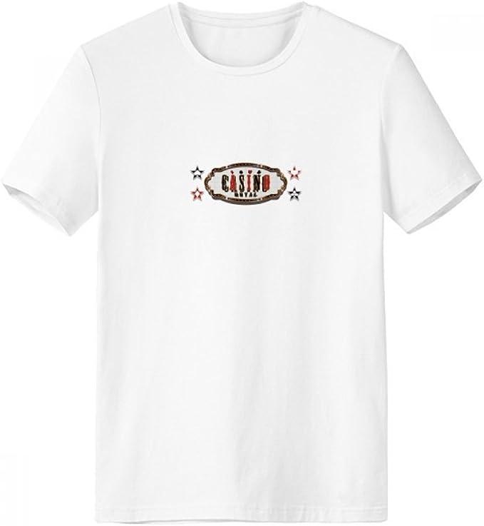 DIYthinker Patrón negro Red Casino Letrero con cuello redondo de la camiseta blanca de manga corta Comfort Deportes camisetas de regalos - Multi - S: Amazon.es: Ropa y accesorios
