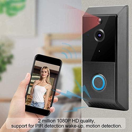 ドアベル、1080P HDスマートモーション検出ビデオインターホンドアベル、防水ドアベル
