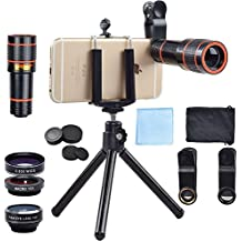 Telephoto Lens Kit | Zoom Lens, Macro Lens, Fisheye Lens | 4 in 1 Bundle by Akinger