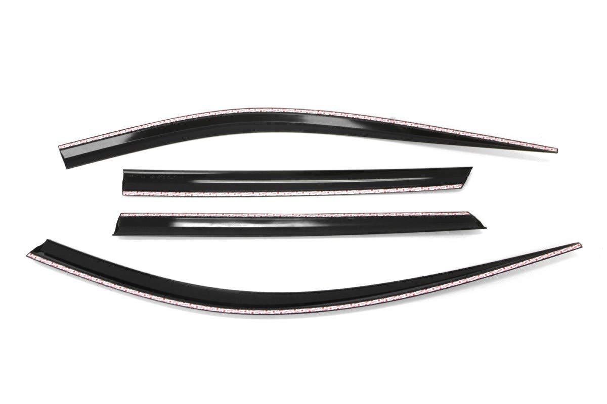 4 pi/èces Autoclover Jeu de d/éflecteurs dair pour Hyundai Santa Fe 2013-2018 fum/é