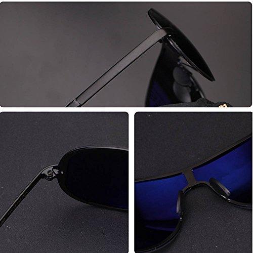 Soleil Homme De Black Lens RPFU Frameless Métal UV400 Grey Lunettes Fashion Polarizer qFEtxCOw