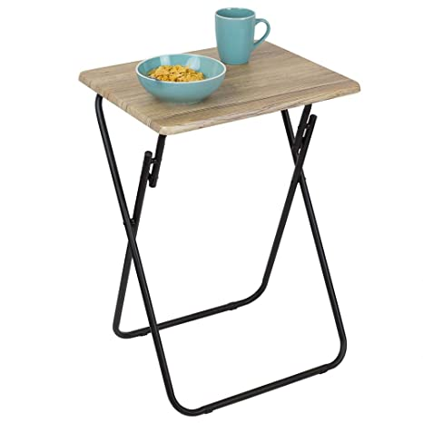 Amazon.com: Home Basics Bandeja de mesa plegable, multiusos ...