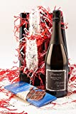 Naked Winery Pounce Bubbly Sparkling Wine and Chocolate Gift Set, 1 x 750 mL